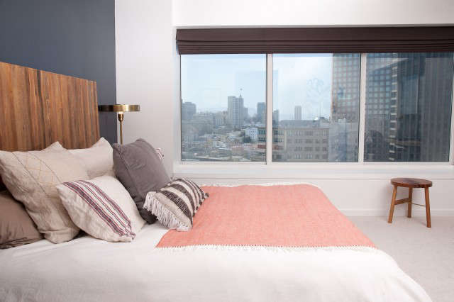 Geremia Design Downtown Penthouse Bedroom &#8\2\1\1; The bedroom of a Geremia Design residential project in downtown San Francisco. Visit our website for more information.