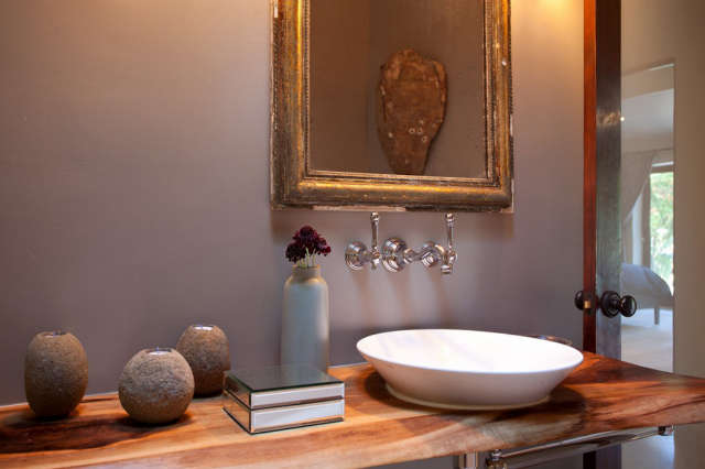 Geremia Design Hillsborough Residence &#8\2\1\1; Bathroom of a Geremia Design residential project in Hillsborough, CA. Visit our website for more information.