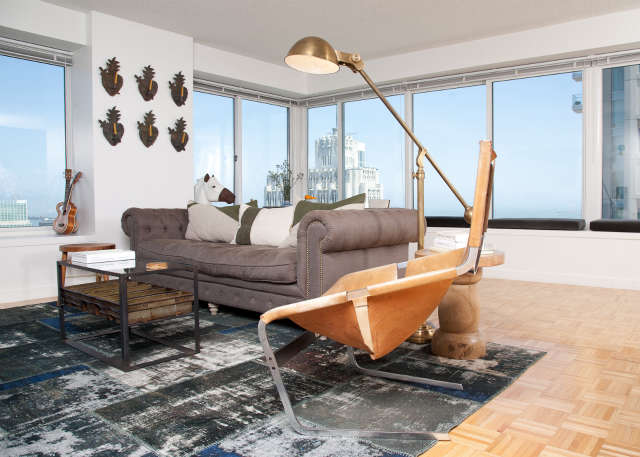 Geremia Design Downtown Penthouse &#8\2\1\1; Living Room of a Geremia Design residential project in Downtown San Francisco, CA. Visit our website for more information.
