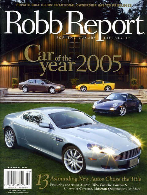 Robb Report: Robb Report, Car Of The Year, February 05The Napa Valley Reserve Photo: Cordero Studios