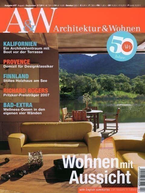 Architektur & Wohnen: Architektur & Wohnen, Versteckspiel Am See, August-September 07Stags Leap Residence Photo: Alan Weintraub / Arcaid