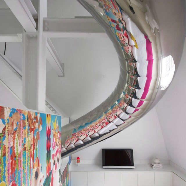 slide over guest bedroom: the slide sweeps down over the guest bedroom before p 22