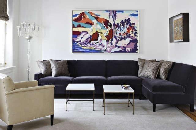 Greenwich Village Apartment: Herbert Chair, leftCustom T-Back Sofa Photo: Manolo Yllera