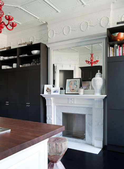 Lincoln Place Kitchen Fireplace