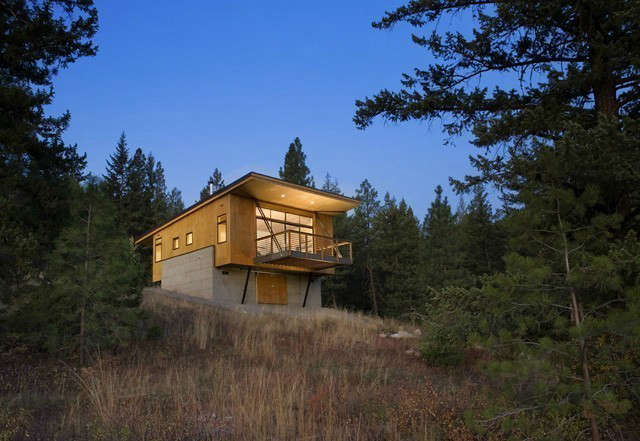 pine forest cabin: in order to meet the client's budget goals, an efficient p 56