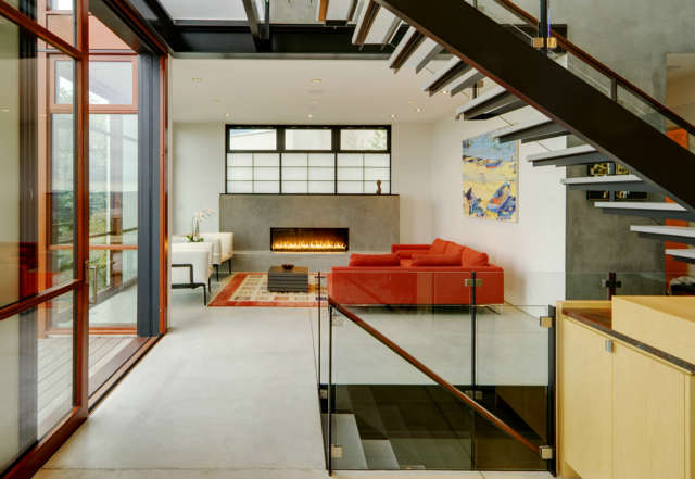 capitol hill: the capitol hill residence is located on a ridge in seattle with  54