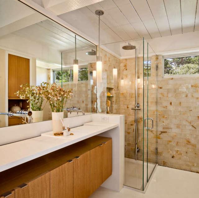 Carmel Mid-Century LEED Master Bathroom &#8class=