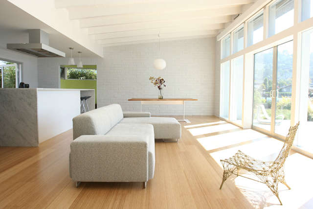 belvedere living room: this light filled home on the belvedere lagoon was built 11