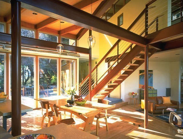 outside in house: this \1950s marin county home, designed and built in the eich 15
