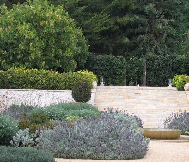 california: arbutus allée, upper level.: southern california estate, near the  9