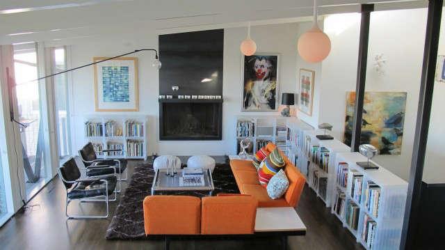 Hillside Modern House, living room