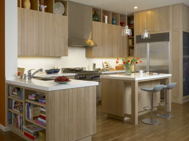 Residential kitchen remodel at Liberty Street Photo: John Sutton Photography