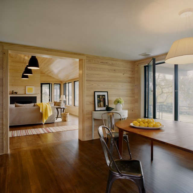 weekend house kitchen to dining room: renovated dining area flows through to th 19