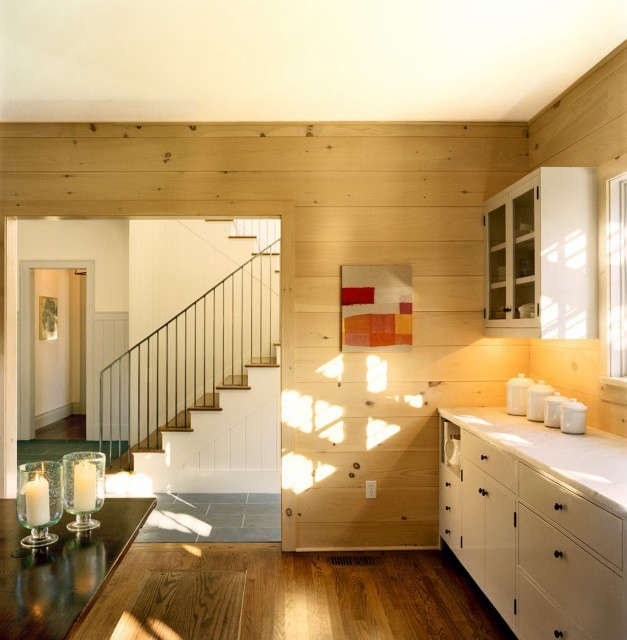 weekend house, kitchen, norfolk, ct: new construction for a weekend house in co 13