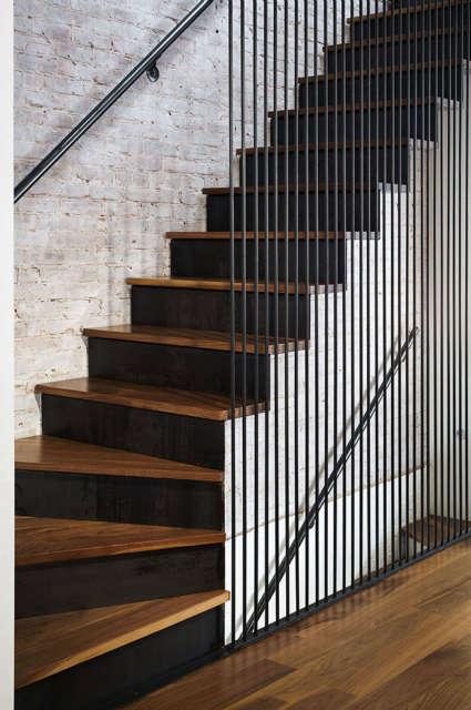 Leone Design Studio \1\1th Street Townhouse: stairs Photo: Albert Vecerka