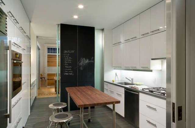 Leone Design Studio Columbia Heights Apartment: kitchen Photo: Albert Vecerka