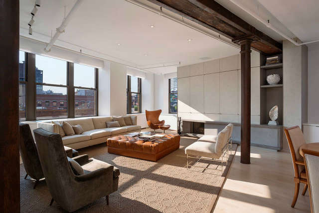 Leone Design Studio Meatpacking Loft: living room Photo: Albert Vecerka