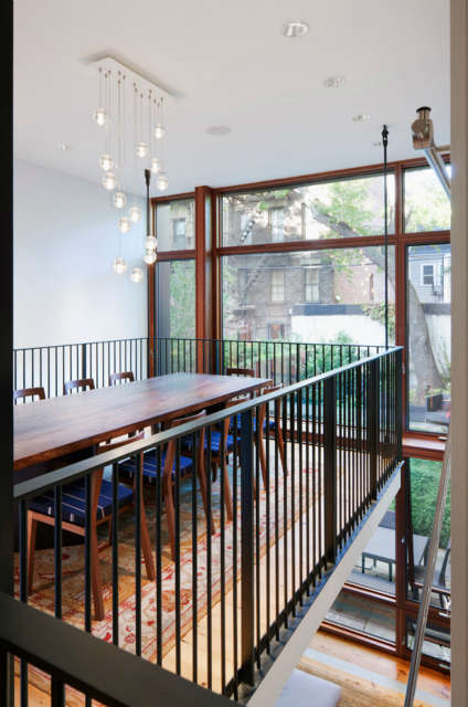 Suspended dining balcony