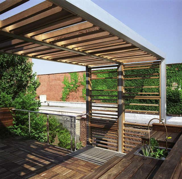 Leone Design Studio Brooklyn roof deck & trellis