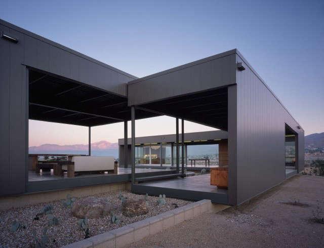 desert house: located in desert hot springs, california, the prototype prefab h 9