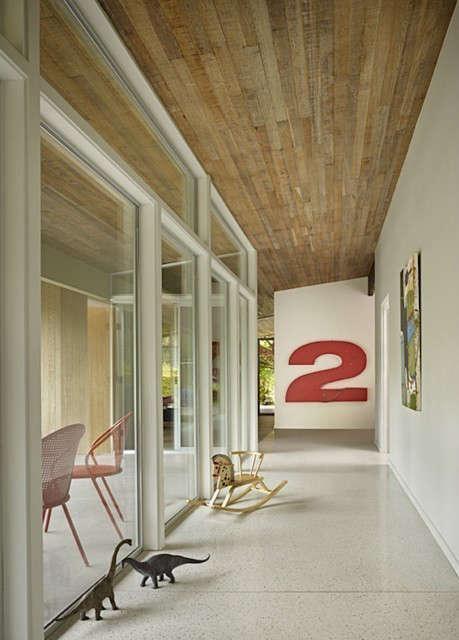 lakewood mid century hallway 18