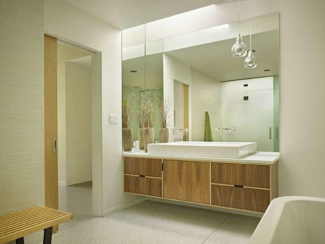 lakewood mid century master bathroom 13