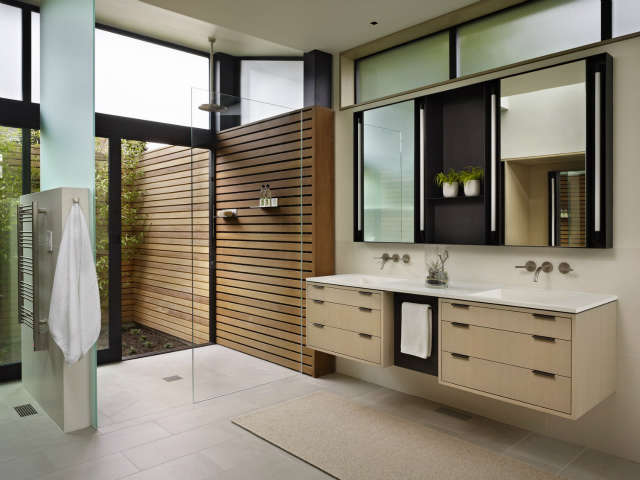 hillside modern shower 36