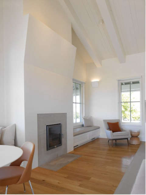 sonoma farm house: fireplace: custom designed enclosure for an extremely effici 22