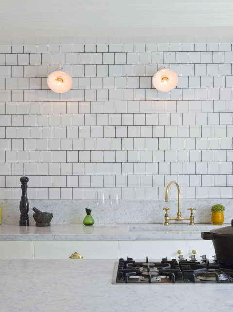 Notting Hill home: Custom designed and manufactured kitchen with professional standard equipment Photo: Chris Tubbs