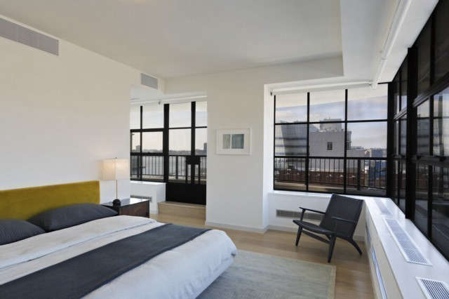 West th St.Penthouse Master Bedroom: Photo: Tom Sibley