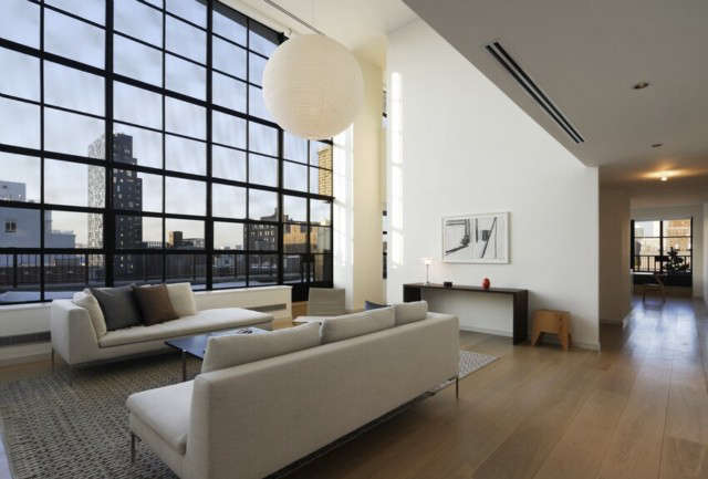 West th St. Penthouse Living Room: Architecture : Tamarkin Co. Photo: Tom Sibley