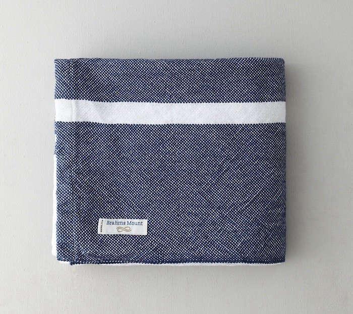 brahms mount single stripe blanket