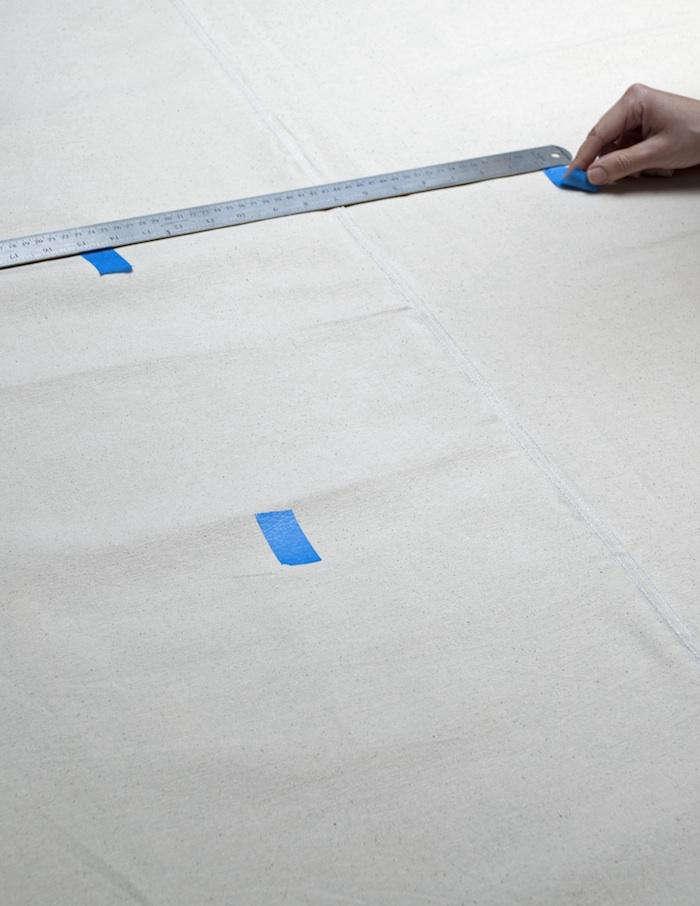 david stark painted tablecloth