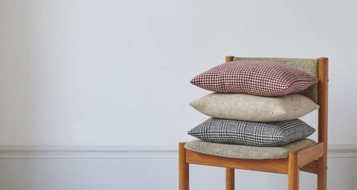 31 chapel lane donegal tweed houndstooth cushion remodelista