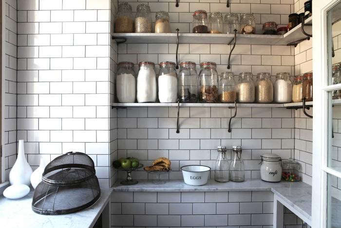 a tiled pantry in an english country house onlight locations. 14