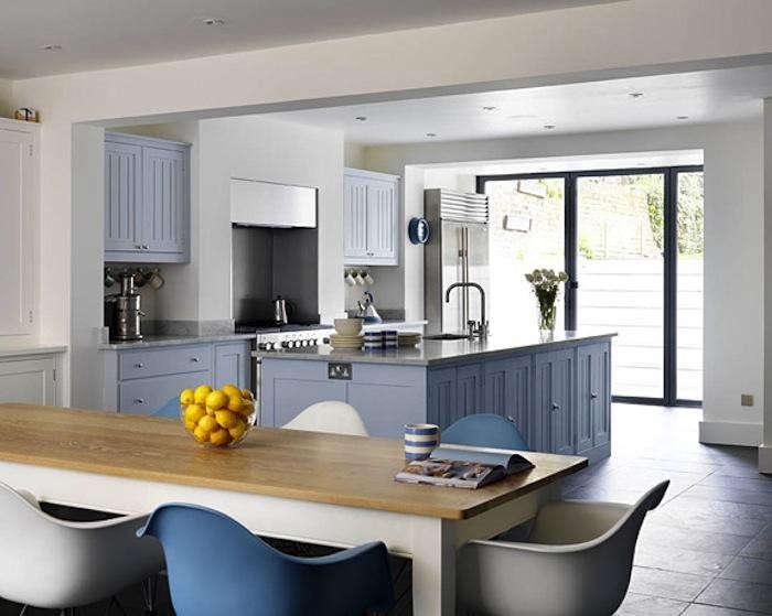 700 plain english kitchen with tonal blue chairs