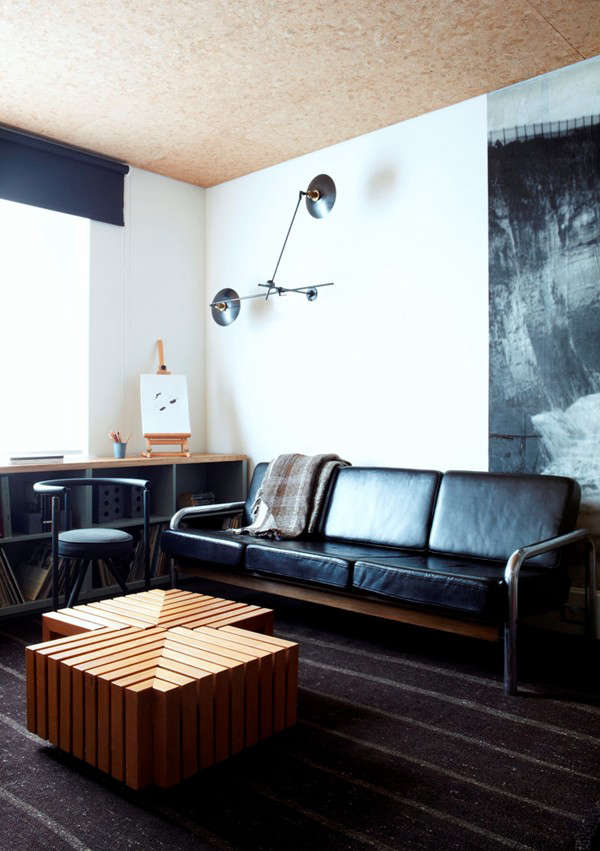 Ace hotel london leather couch Remodelista