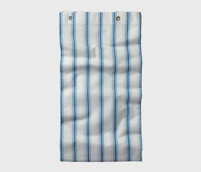 Aegean Stripe Shower Curtain Toast