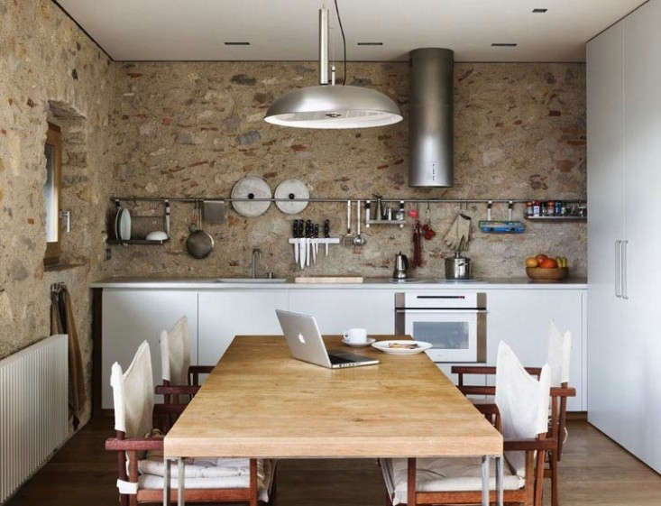 Ultimate Budget Storage 10 Kitchens with Ikeas Grundtal Rail System A long Grundtal rail and hangingGrundtal Shelf in a Barcelona kitchen by Anna Noguera fromMedieval Meets Modern in Catalonia.
