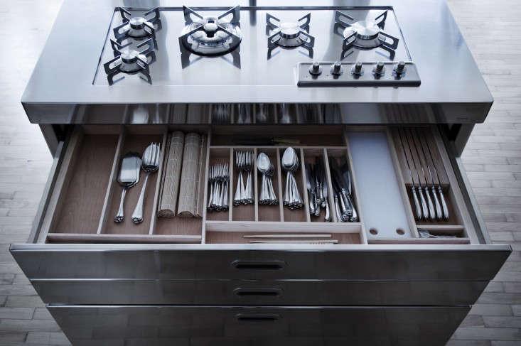 Alpes Inox kitchen island storage Remodelista