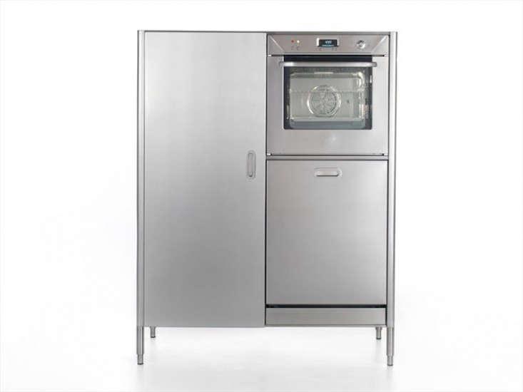Alpes Inox washing cooking fridge column via Remodelista