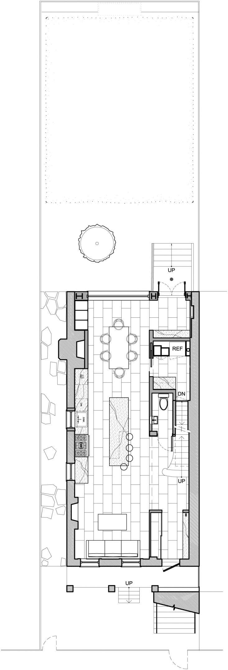 Annabelle Selldorf Brooklyn kitchen renovation layout