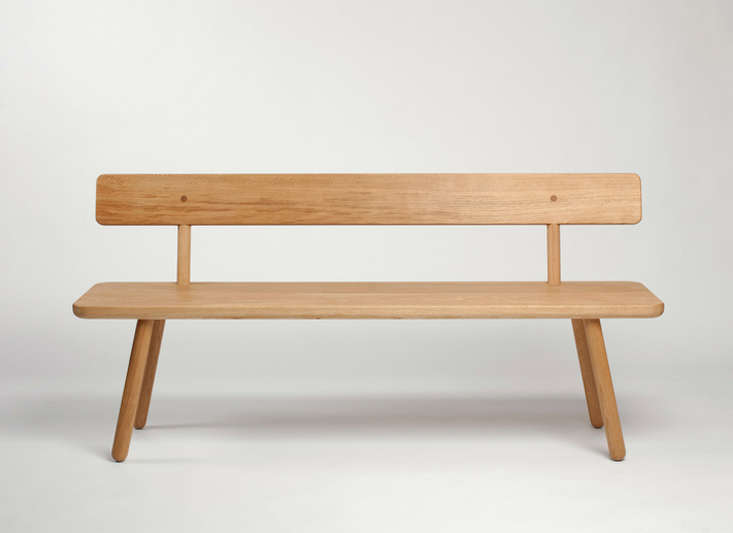 10 Easy Pieces Modern Wooden Benches with Backs portrait 12