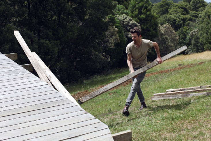 OfftheGrid Retreat Anthony and Phoebe Danns Homemade Cabin in Australia portrait 15