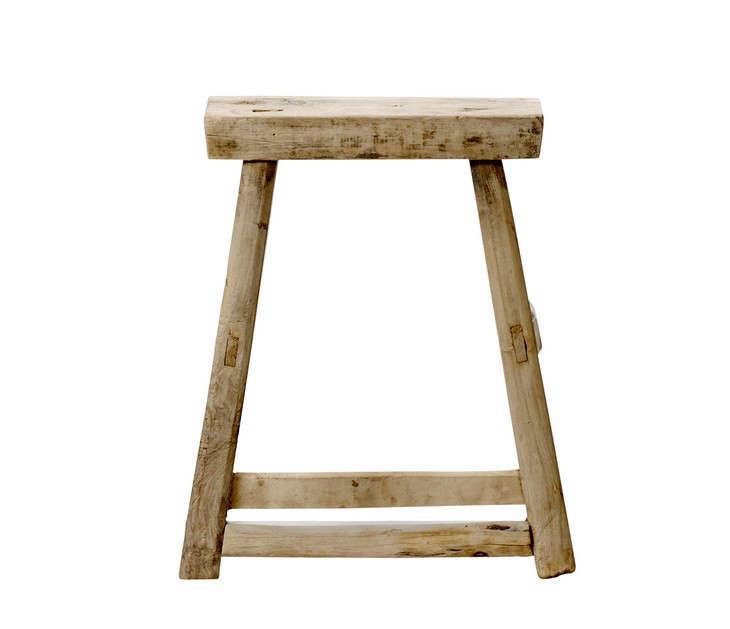 Antique Elm wooden stool