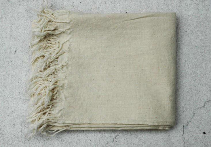 Auntie Oti fringe towel unbleached Remodelista