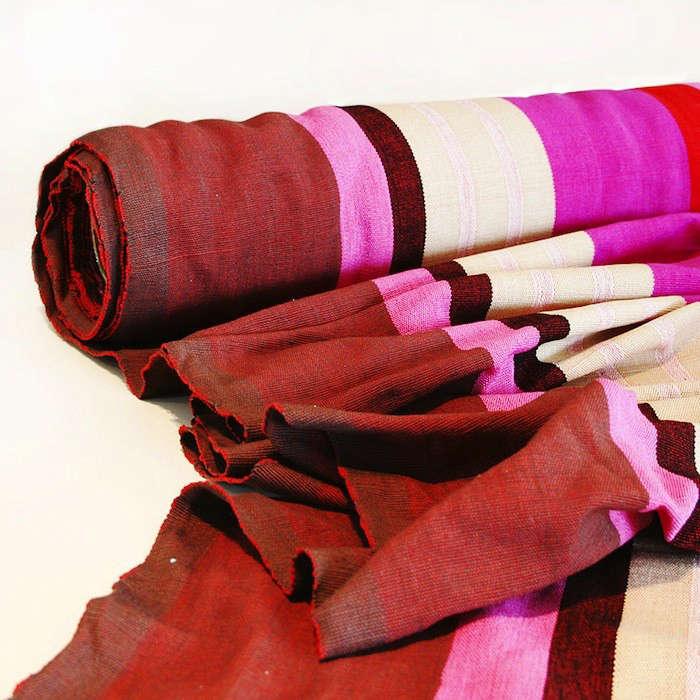 Barefoot Berry Stripe Fabric Cloth Fabric