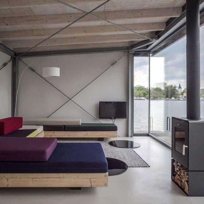 Berlin Modern Houseboat Living Room Remodelista 2