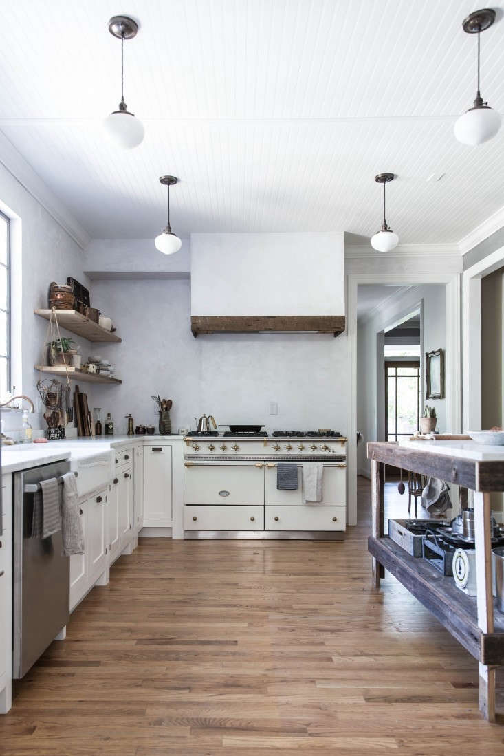 Recipe developer Beth Kirby (of Local Milk) worked with designers Jersey Ice Cream Co. to create her perfect kitchen in her North Chattanooga, Tennessee, home. The kitchen is complete with a Lacanche Sully range and a large central worktable.