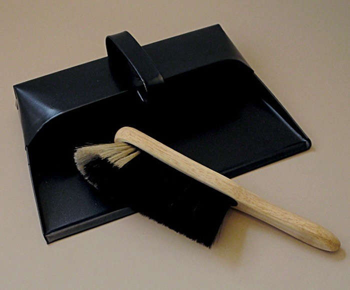 Black Dustpan and Broom Objects of Use